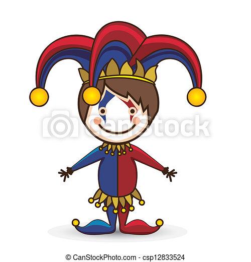 Vector Illustration of April Fool's Day - Illustration of a joker ...