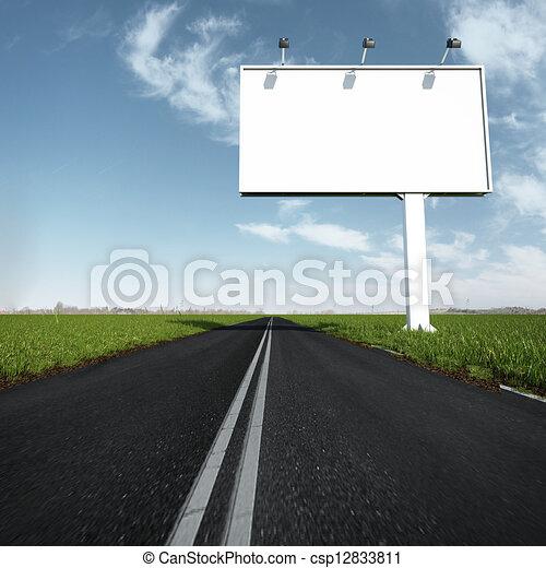 panneau affichage, route, EXTÉRIEUR - csp12833811