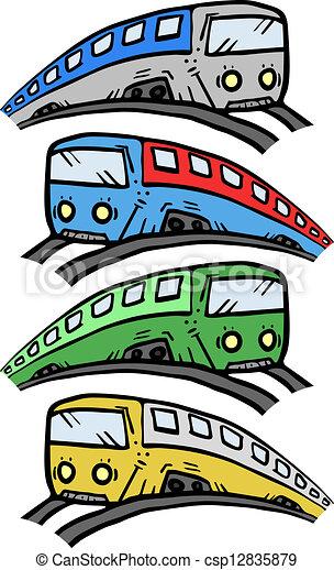 Illustrations vectoris es de couleur dessin anim train cr atif conception csp12835879 - Train en dessin ...