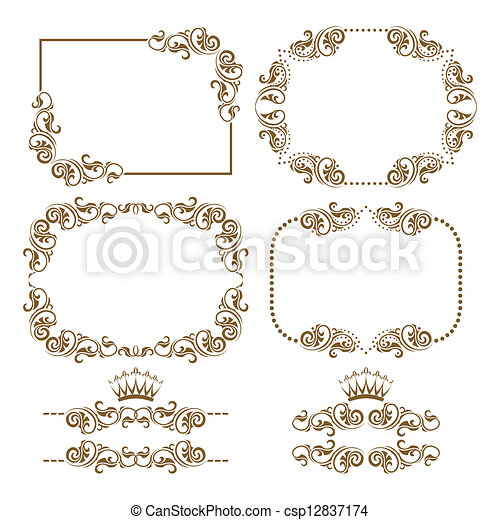 decorative frame - csp12837174