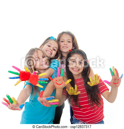 Spaß, Farbe, Kinder - csp12837317