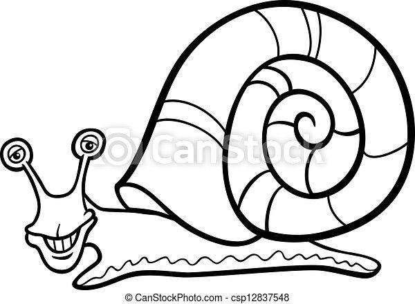 Sea Snail Drawing Vector Snail Mollusk Cartoon