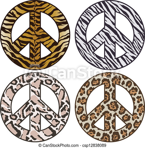 Vector Peace Sign in Animal