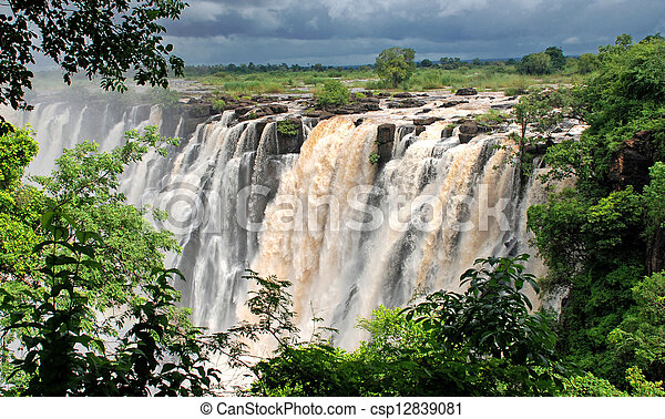africa), wasserfall, victoria(south - csp12839081