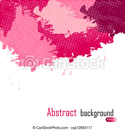 purple abstract paint splashes illustration. Vector background with place for your text. - csp12840117