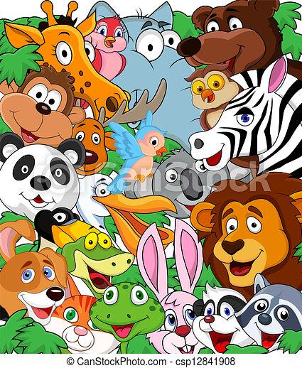 Wild animal background - csp12841908