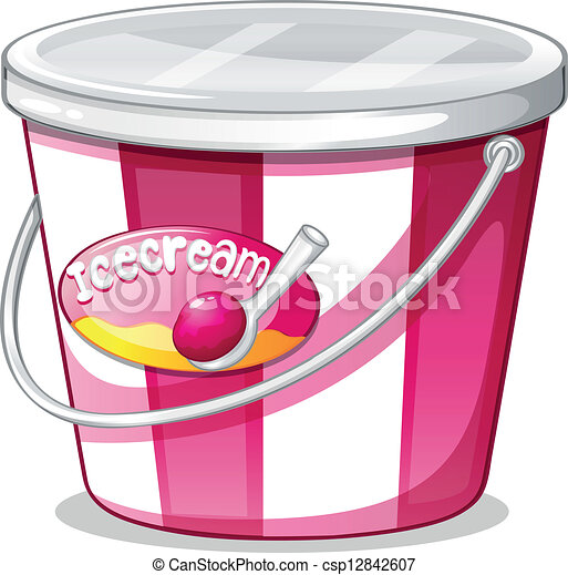 Vector Clipart Of An Ice Cream Bucket Illustration Of An
