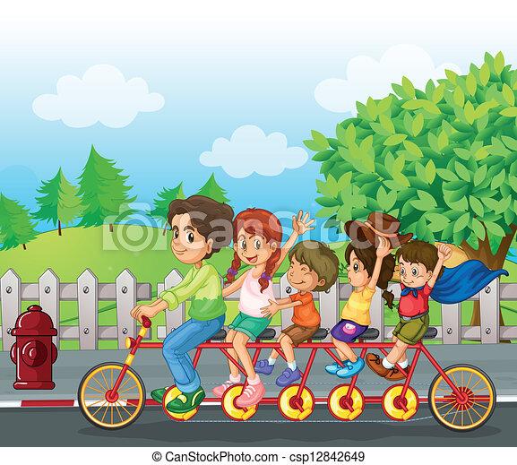 A family bike - csp12842649