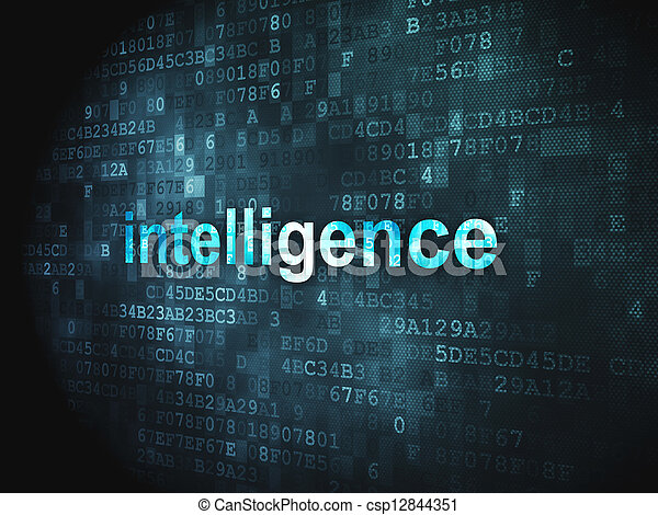 Education concept: Intelligence on digital background - csp12844351
