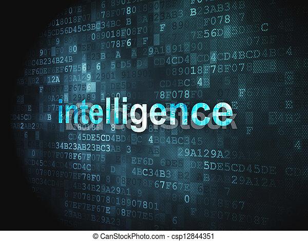 Education concept: Intelligence on digital background - csp12844351