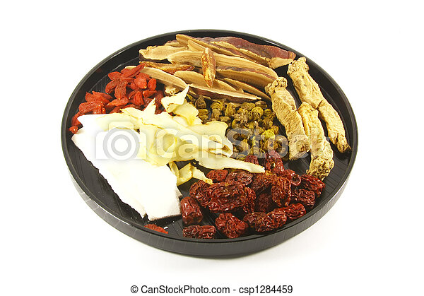 Chinese Herbal Soup Ingredients - csp1284459