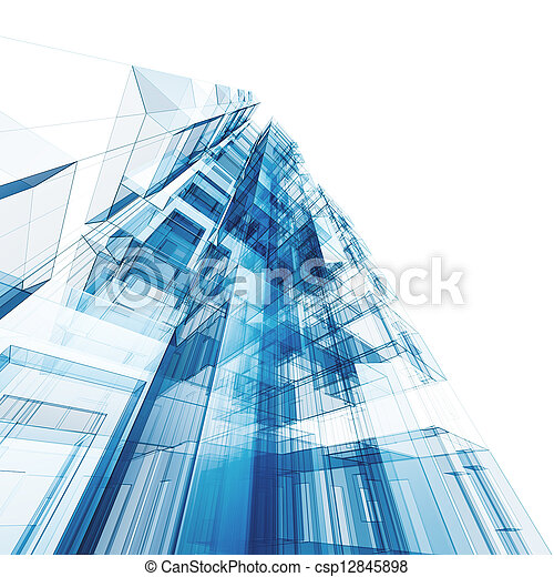 Abstrakt, Architektur - csp12845898