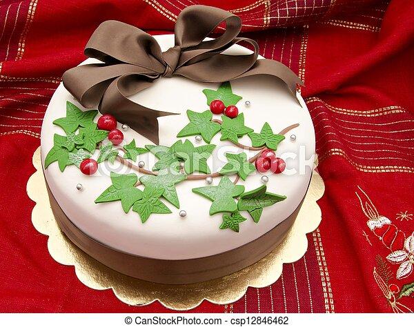 stock bild von kuchen weihnachten weihnachten kuchen. Black Bedroom Furniture Sets. Home Design Ideas