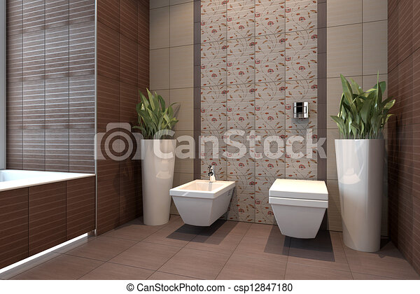 stock illustration von klo mit bidet inneneinrichtung. Black Bedroom Furniture Sets. Home Design Ideas