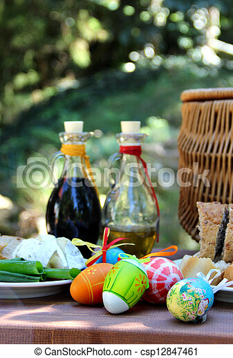 Easter picnic - csp12847461