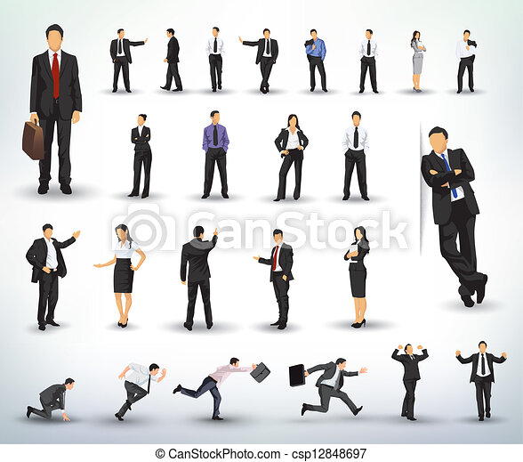 ilustraciones, empresa / negocio, gente - csp12848697