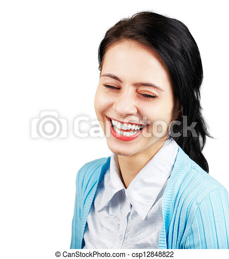 Woman laughing - csp12848822