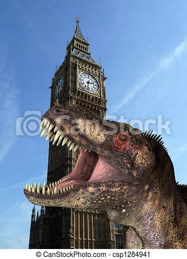 T Rex In London 2 - csp1284941