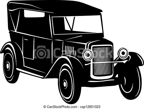 1920s Cars Drawing Vector Vintage Car of 1920s