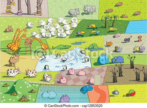 动物园, 风景 - csp12853520