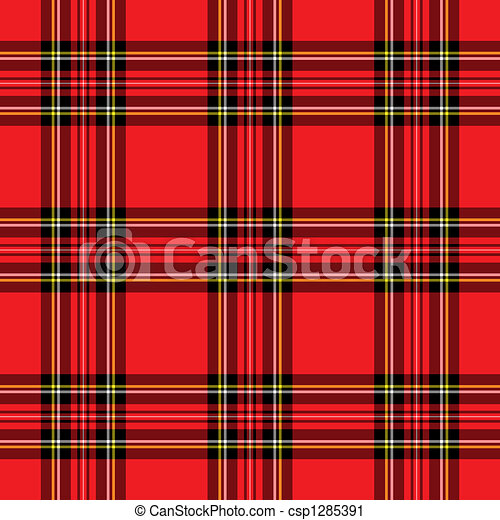 Clipart Of Red Plaid Pattern Background Illustration Of