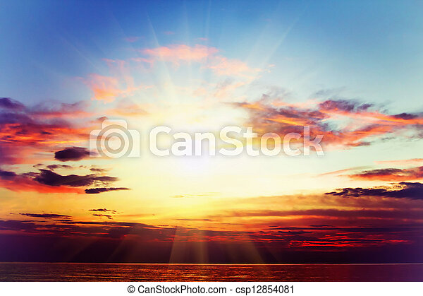 Sea sunset - csp12854081