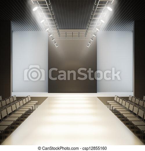 Fashion empty runway. - csp12855160