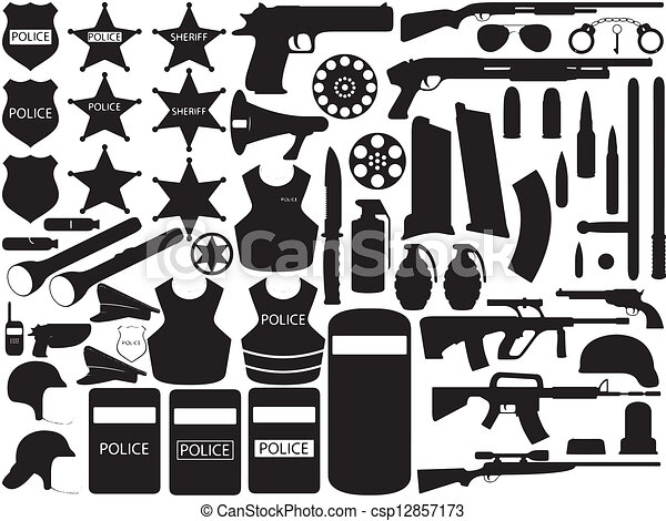 Police tools - csp12857173