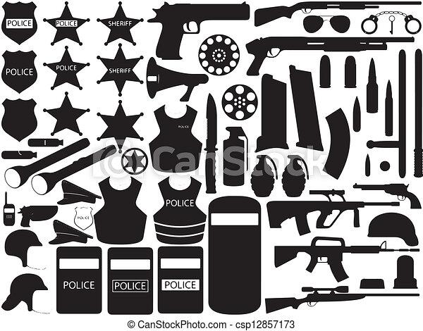 Police tools - csp12857173