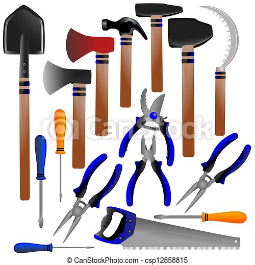 Clipart de outils construction pelle cisailles for Outil de construction