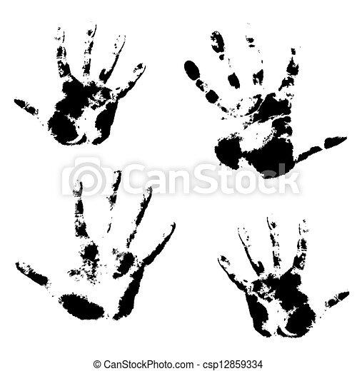 Hand print, skin texture pattern, vector illustration. - csp12859334