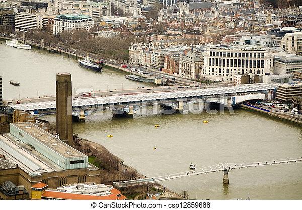 Bridges over the River Thames - csp12859688