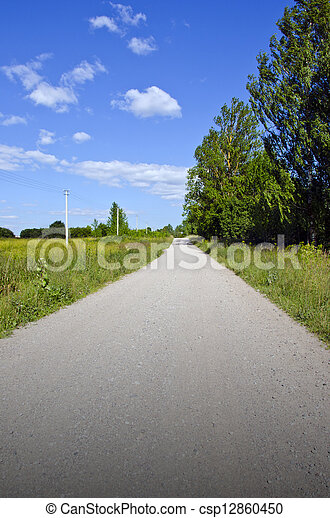 summer rural gravel road - csp12860450