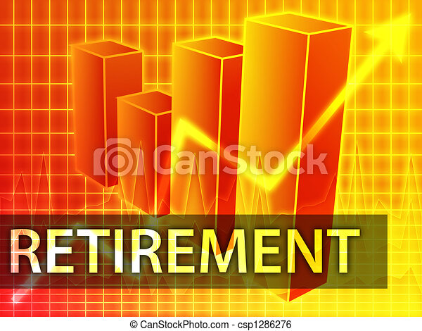 Retirement finances - csp1286276
