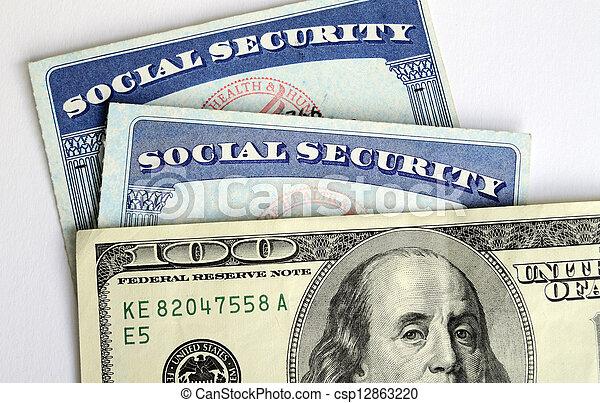 Social Security & retirement income - csp12863220