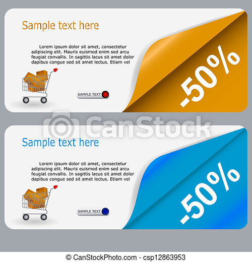 Sale banner with place for your text. vector illustration - csp12863953