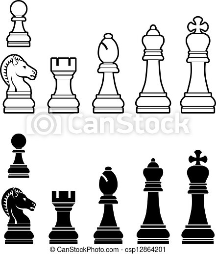 Vector Clipart of Ches... King Clip Art Black And White