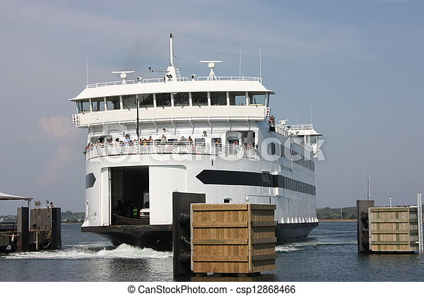 Passenger and automobile ferry - csp12868466