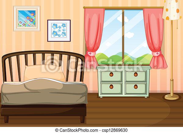 Vecteurs De Vide Chambre Coucher Illustration De