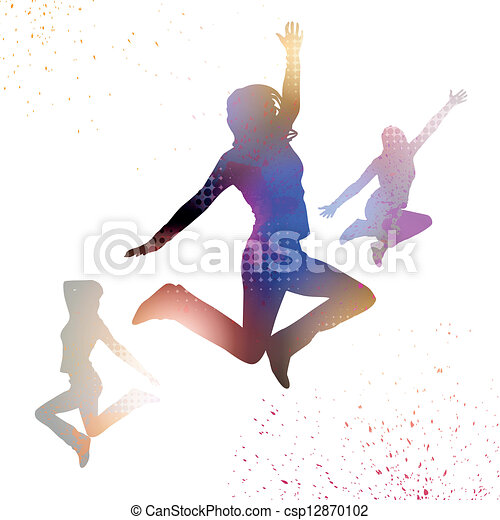 Jumping Vector People  - csp12870102