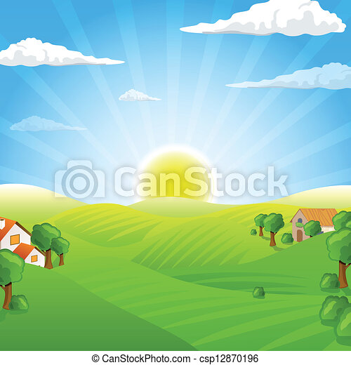 Vector Landscape - csp12870196