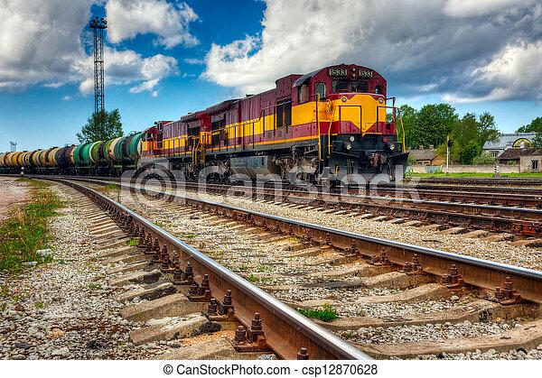 Long freight train - csp12870628