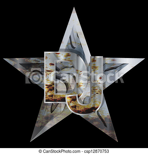 Clipart Vector of metal star DJ. Abstract party design ...