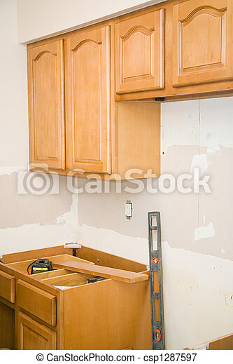 Kitchen Remodel - Cabinets - csp1287597