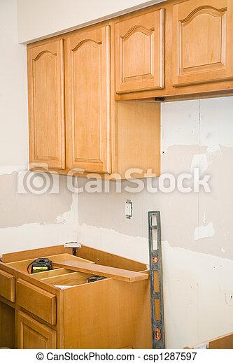 Kitchen Remodel - Cabinets - csp1287597