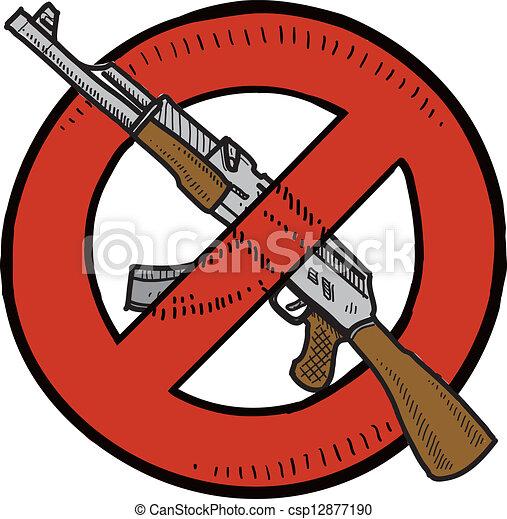 eps vectors of assault weapons ban sketch doodle style firearms clipart handgun clipart png
