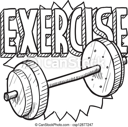eps vector of weight workout sketch doodle style gym Art Excersiceclip Exercise Clip Art