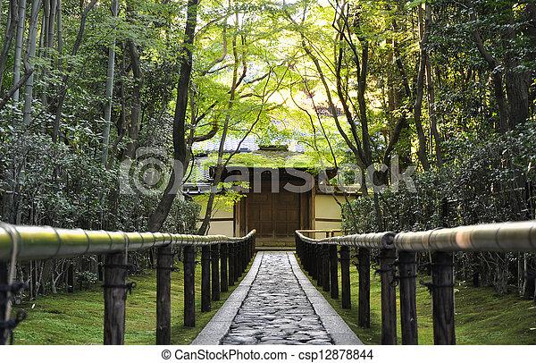 京都,  koto-in, 日本, 寺院, アプローチ, 道 - csp12878844