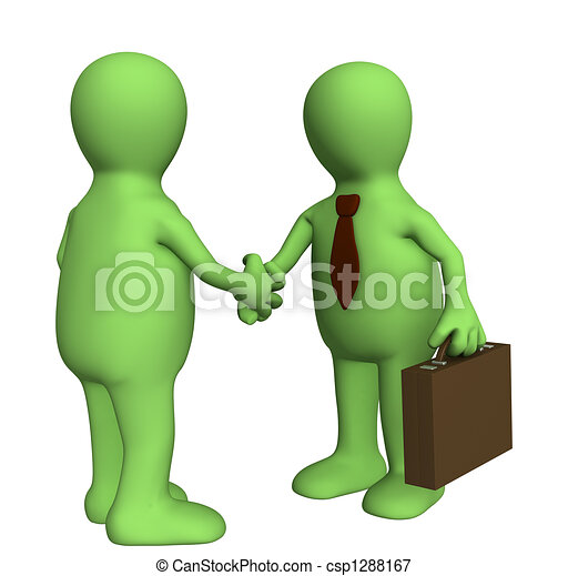 Shake Hand of Two 3d Stylized