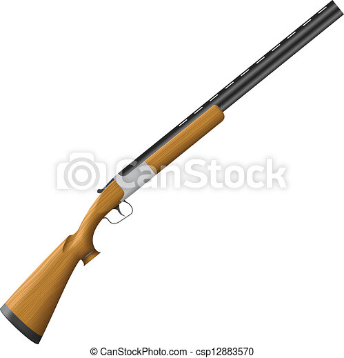 Vectors Illustration of Shotgun - Layered vector ...